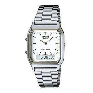 Relógio Casio Vintage Anadigi AQ-230A-7DMQ - Prata