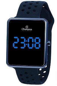 Relógio Champion LED CH40081A Unisex Pulseira de Silicone