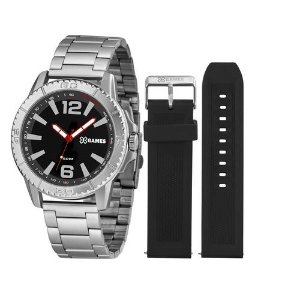 Relógio X Games XTEEL Analógico XMLS0001 Kit com pulseira de Silicone