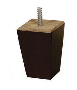 Pé Cubo Madeira / Tabaco Com Parafuso 6 X 6 Kit c/ 4 unidades