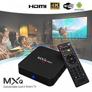 MEGABOX TV - 16 Gb, 2 Gb Ram,  Android 8.1 Mod: MxQ4k Pro + 1 Mês de IPTV