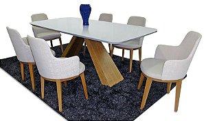 Conjunto Mesa em Laca com 6 cadeiras