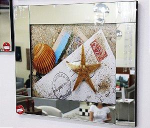 Quadro 01 c/ moldura de espelho - Estrela do Mar