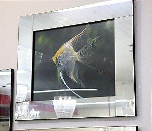 Quadro 02 c/ moldura de espelho - peixe