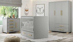 Dormitório Baby Linha Dreams Cinza