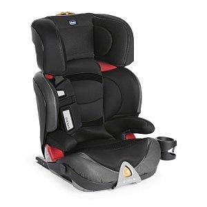 Cadeira Auto Oasys 2-3 Fixplus Evo Jet Black 15 a 36 kg - Chicco