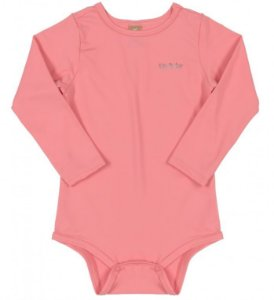 BODY MANGA LONGA EM MALHA UV 033263 ROSA FLUOR - UP BABY