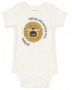 BODY MANGA CURTA EM SUEDINE 000106 NATURAL - UP BABY
