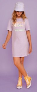 VESTIDO T-DRESS OVER - 008545-LILAS LALIC - DIMY CANDY