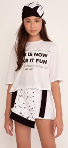 T-SHIRT CROPPED OVER COM BANDANA - DIMY CANDY