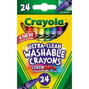 Giz de Cera Lavável Crayola 24 cores