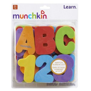 Kit Letras e Números Munchkin Brinquedo para Banho