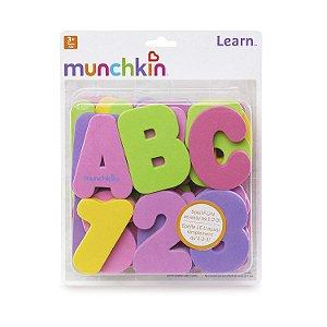 Kit Letras e Números Rosa Munchkin Brinquedo para Banho