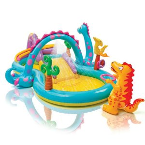 Piscina Inflável Infantil Dinoland Play Center Intex