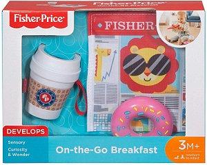 Mordedor e Chocalho Formato Copo de Café Fisher Price