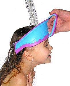 Viseira Protetora Infantil para Banho Lil Rinser Azul e Rosa
