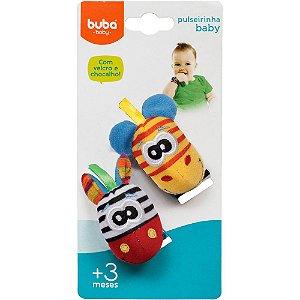 Pulseirinha e Chocalho Baby Zebrinha e Girafa + 3 - Buba Baby