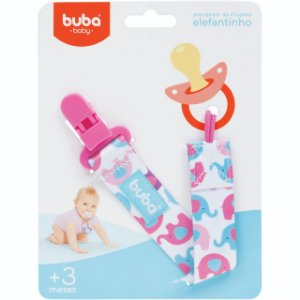 Prendedor de Chupeta Elefantinho - Buba Baby
