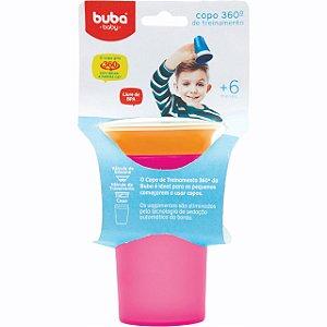 Copo com Alça de Treinamento 360 Rosa - Buba Baby