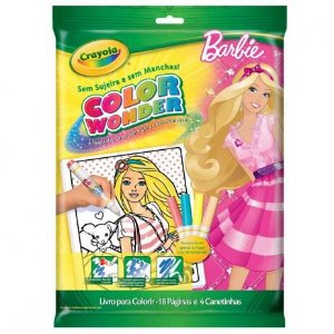 Color Wonder Barbie 4 Cores - Crayola