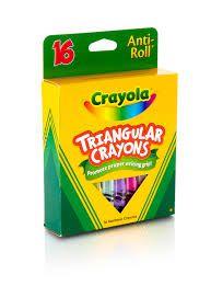 Giz de Cera Triangular 8 Cores - Crayola