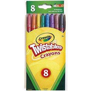 Giz de Cera Twistables 08 Cores - Crayola