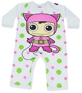 Macacão Mulher Gato Trevos - Get Baby