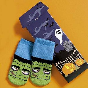 Par de Meias Azul e Verde Frankenstein - Puket
