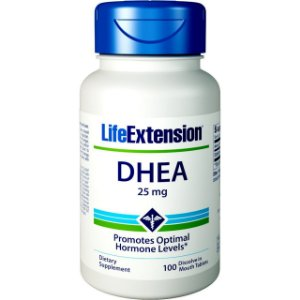DHEA 25 mg com 100 Cápsulas - Life Extension