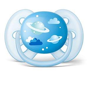 Chupeta Menino Ultra Soft 6-18m Azul Espaço SCF528/12 - Philips Avent