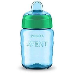 Copo Easy Sip Menino com Bico de Silicone Azul e Verde 260ml SCF553/05 - Philips Avent