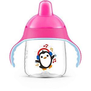 Copo Pinguim Rosa 260ml SCF753/07 - Philips Avent