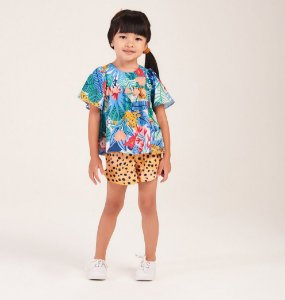 Conjunto Mc Tropical Print Blusa e Short 054 - Mon Sucré