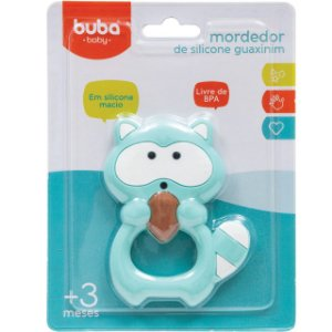 Mordedor de Silicone Guaxinim - Buba Baby