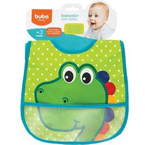 Babador com Bolso Dino - Buba Baby