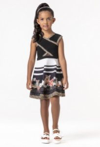 Vestido Mc Black Summer 016 - Petit Cherie