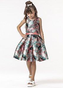 Vestido Mc Folhagens 394 - Petit Cherie