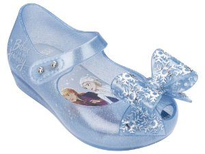 Sapatilha Mini Perolado Azul Ultragirl + Frozen - Melissa