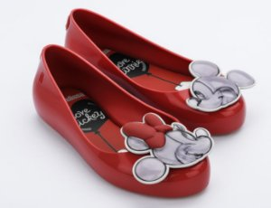 Sapatilha Mel Vermelha Sweet Love Minnie e Mickey - Melissa