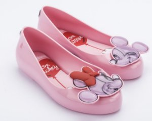 Sapatilha Mel Rosa Sweet Love Minnie e Mickey - Melissa
