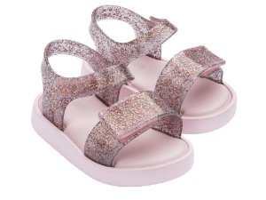 Mini Jump Rosa/Transparente Glitter - Melissa