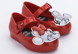 Sapatilha Mini Vermelha Sweet Love Minnie e Mickey - Melissa