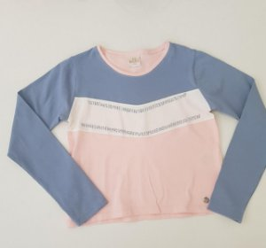 Blusa Recortes Rosa Angel - Bugbee