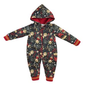 Grw Macacão c/ Capuz Wonder Baby Estampado - Grow Up