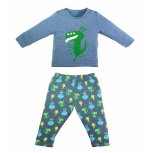 Pjg Conjunto Longo Monster Marinho - Grow Up