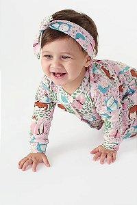 Faixa de Cabelo em Suedine U AB0856 - Up Baby