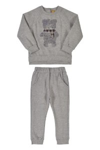 Conjunto Blusão e Calça em Moletom Mescla Cinza Médio 000037 - Up Baby