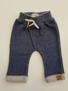 Calça Juan Baby Azul Mescla - Mini Lord