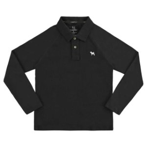 POLO MASC. PIQUE/ML - 20592 - IN PRETO