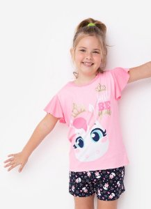 SHORT DOLL MC KIDS VISCO UNICORNIO ROSA